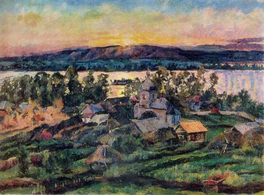 Sunset on the Volga. 1928