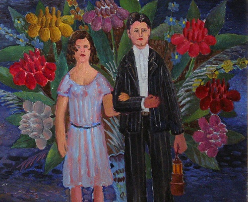 The miner and his wife. 1973. Oil on canvas