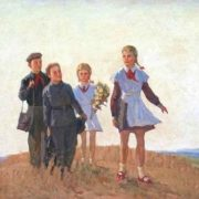 To school. 1954. Sergey Dunchev (1916-2004)