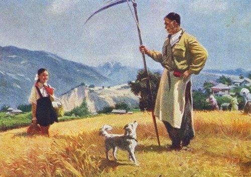 Ucha Dzhaparidze (Georgia, 1906-1988). Grandfather's pride. 1955