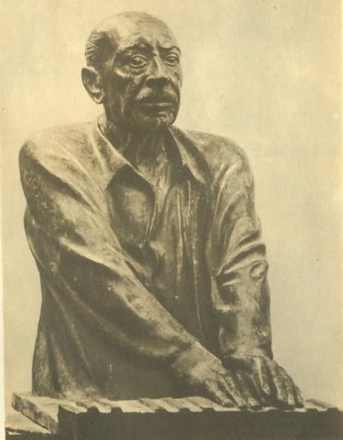 composer Igor Stravinsky 1976. Bronze