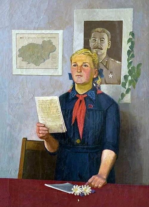 V.M. Mariupolsky. Pioneer leader. 1949