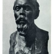 Portrait of sculptor V.A.Vatagin. Tinted gypsum. 1923