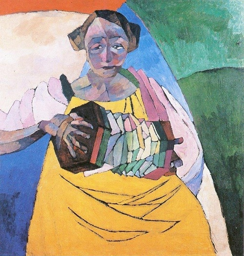 Woman with the Harmonica, 1913