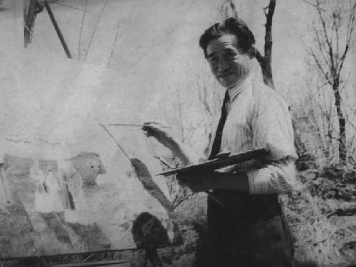 1937 photo of Abylkhan Kasteyev