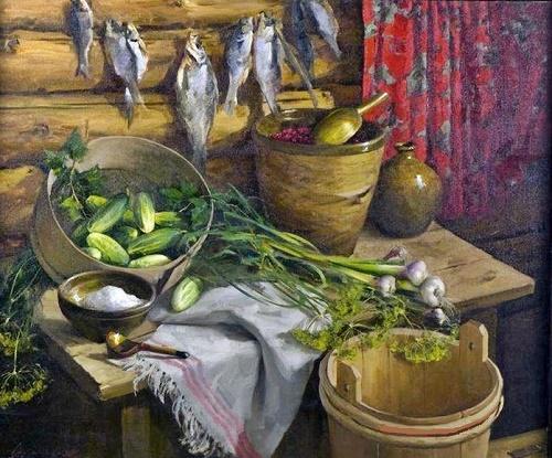 1985 painting 'Still life'