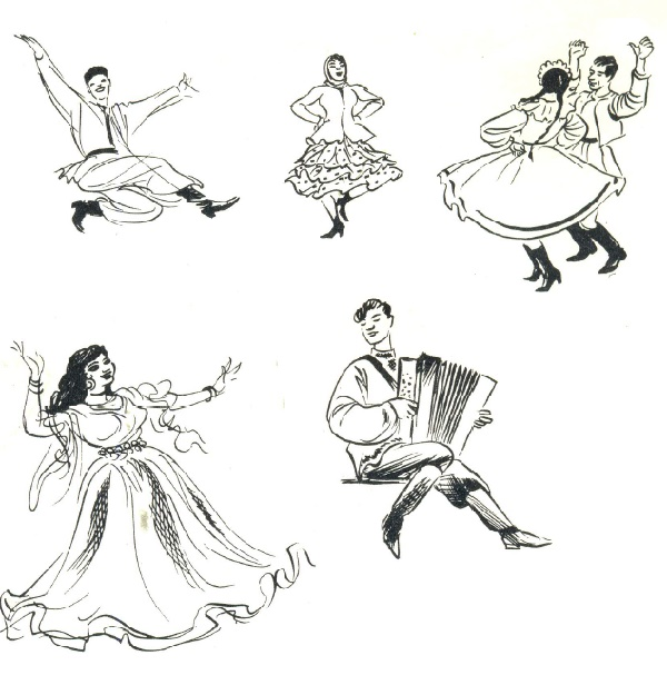 35. Folk dances are very popular