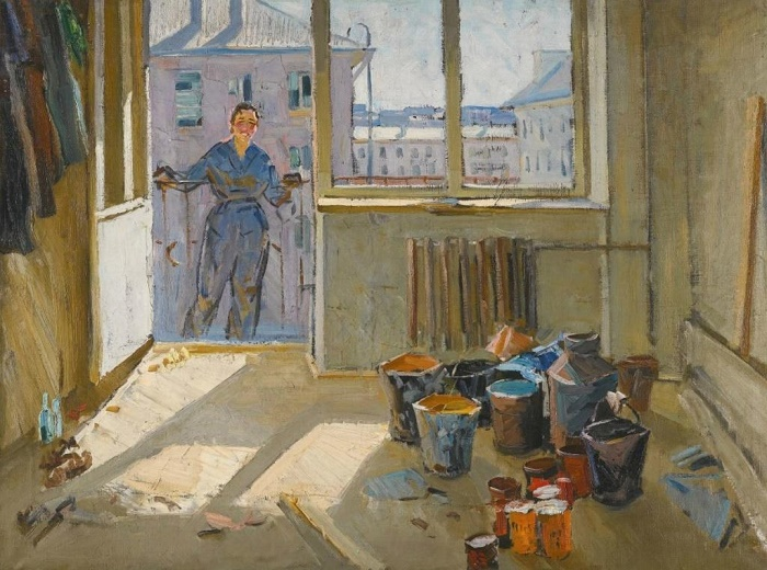 A girl on the balcony. 1965