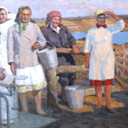 After milking. 1970. Oil on canvas