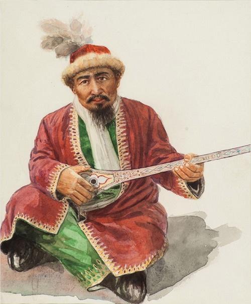 Akan Sery. Watercolor, paper