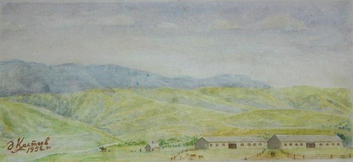 Animal farm. 1956. Watercolor paper