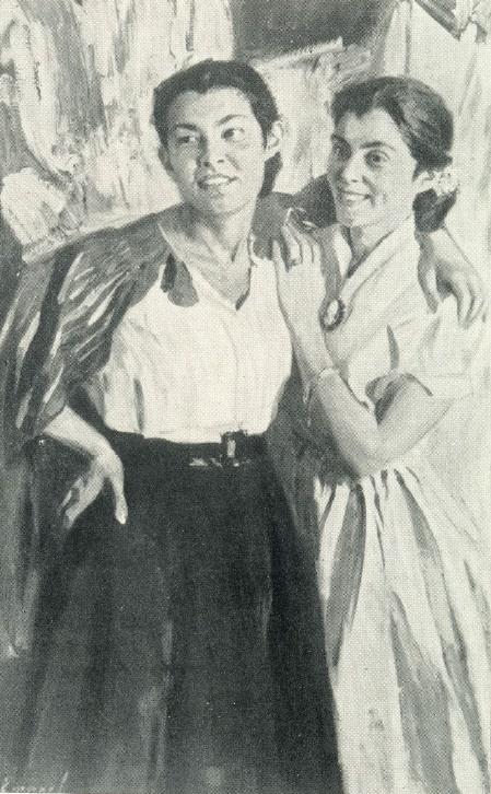 At the festival. 1957