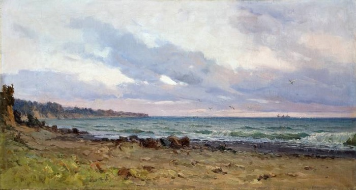 At the sea. 1949
