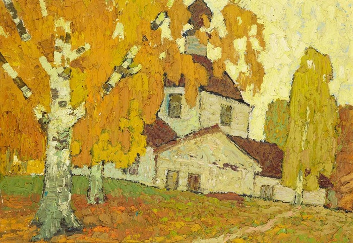 Autumn in Lyubtsy. Oil on canvas. 1964