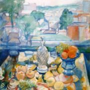 Balcony. 1917-1918. Astrakhan Picture Gallery