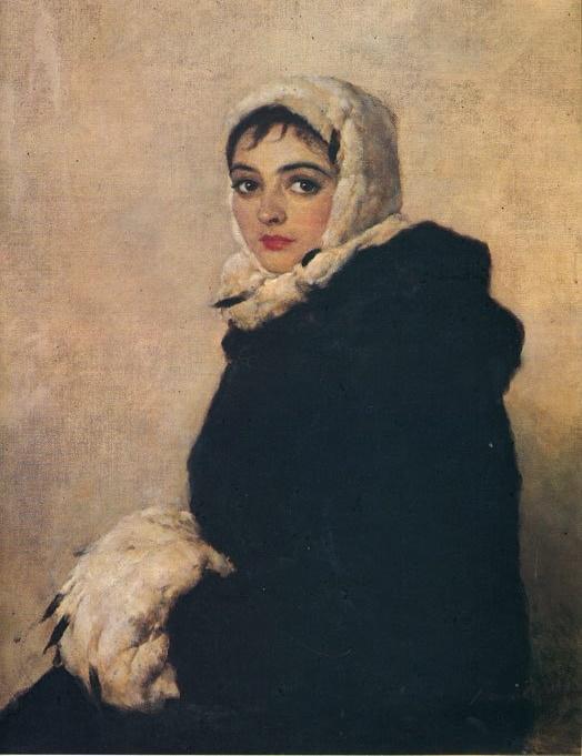 Ballerina Krasnosheyeva. Portrait