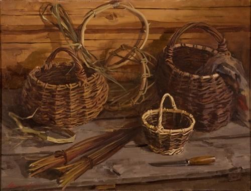 Baskets. Still life