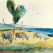 Bulls. Watercolor 1926-1927
