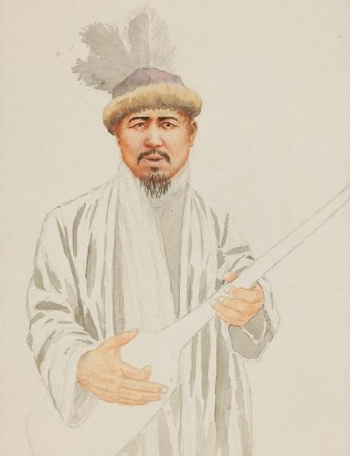 Byrzhan sal. 1950's. Paper, watercolor