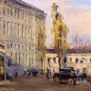 City railway station. 1923. Orenburg Art Gallery