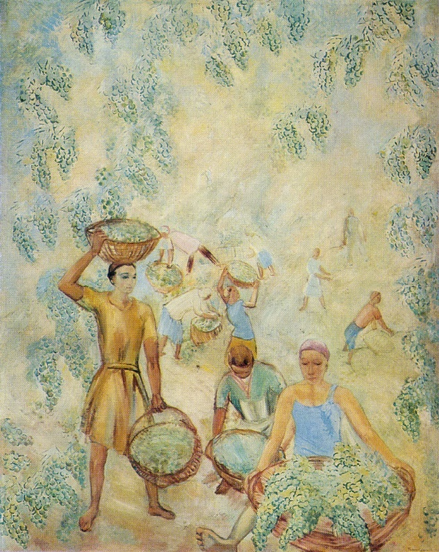 Collecting grapes. 1928