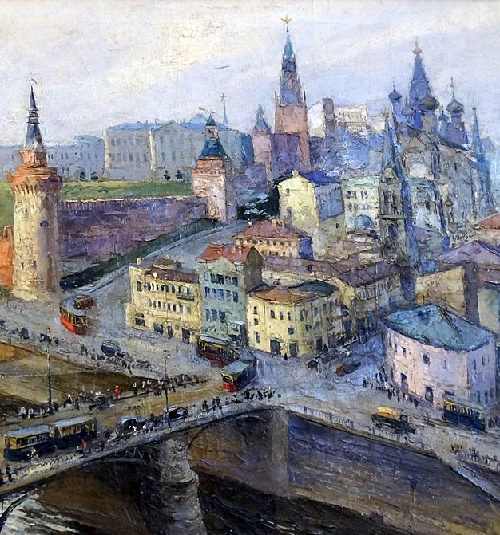 Detail of painting. Moscow