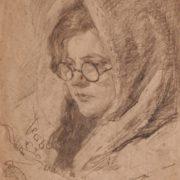 Elena Yablonskaya, portrait. 1946