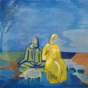 Evening in the steppe. 1916