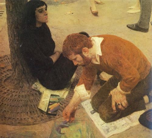 Artist. 1961. Oil on canvas. State Tretyakov Gallery