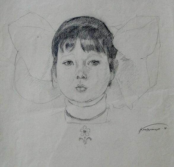 Girl with bows