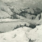 High-mountain skating rink. 1957. Oil