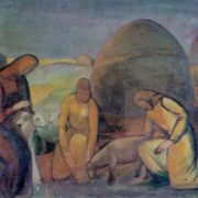 In the steppe at work. 1913