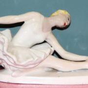 Leningrad porcelain. Ballerina porcelain statuette. Sculptor Sychev, 1950s