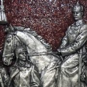 Mikhail Frunze on a horse, detail