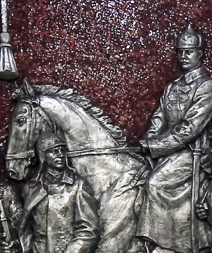 Mikhail Frunze on a horse, detail