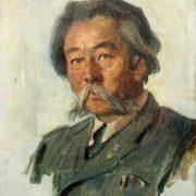 Mongolian writer Rinchen. 1954