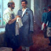 N.I. Pirogov and sailor Pyotr Koshka