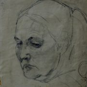 Old woman's head, drawing