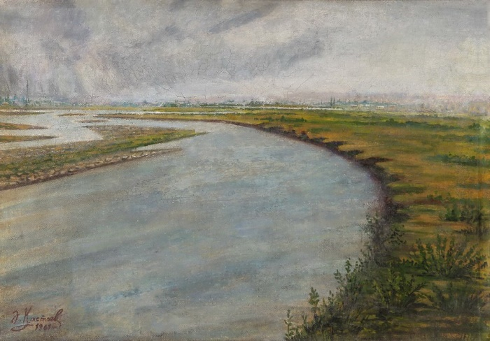 On the Ili river. 1967. Oil on canvas