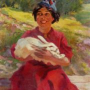 On the new homeland. (Spanish girl). Oil. 1937