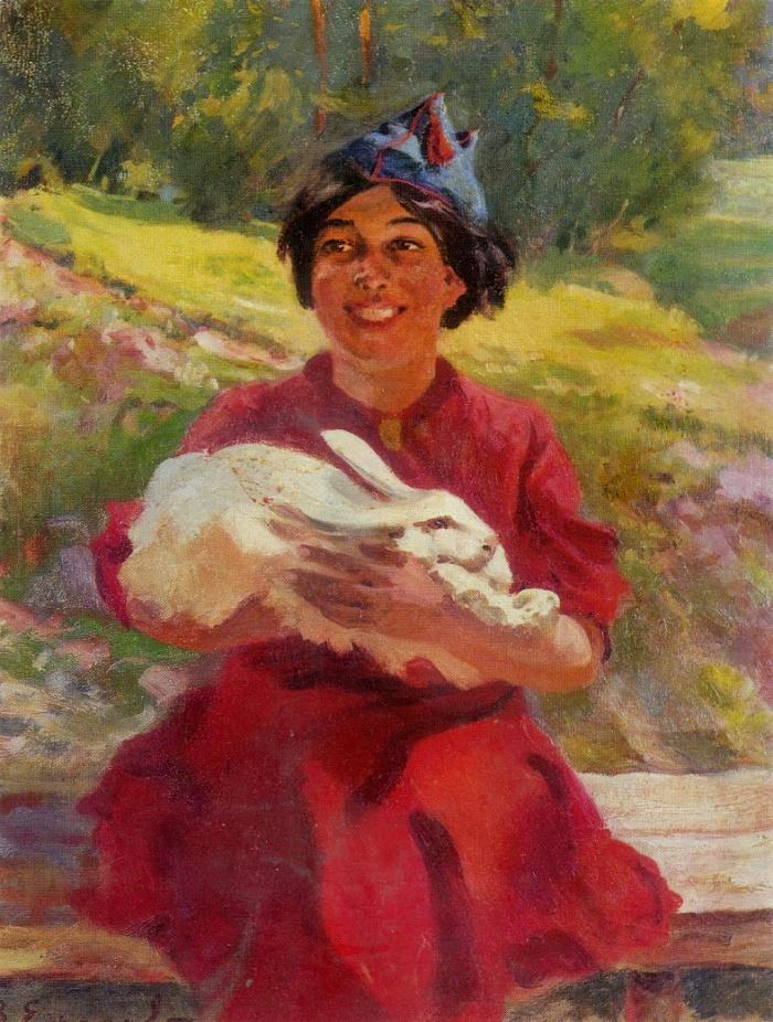 On the new homeland. (Spanish girl). Oil. 1937