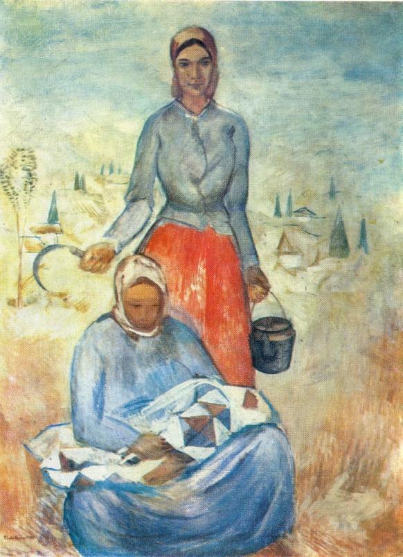 Soviet Russian painter Pavel Varfolomeevich Kuznetsov