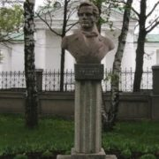 Poet and translator Nikolai Gnedich, monument in Kotelievo, Poltava region