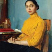 Portrait of Ganrietta Serova (wife)