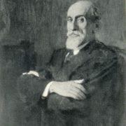 Portrait of Soviet Georgian artist Ya. I. Nikoladze. 1942