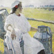 Portrait of milkmaid