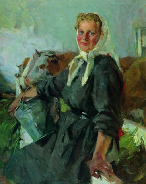 Portrait of the milkmaid K. Koshevaya