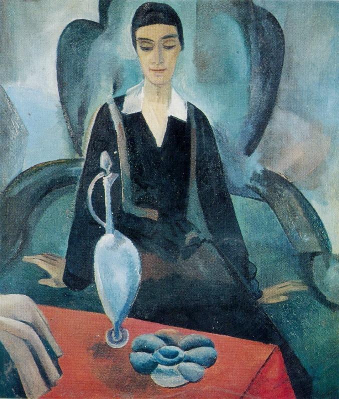 Relaxation. Portrait of E.M. Bebutova. 1921-1922