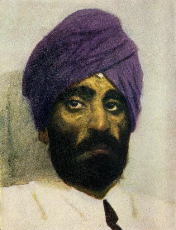 Sikh in the purple turban. 1952