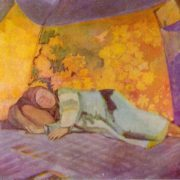 Sleeping in the koshara. 1911. Oil on canvas